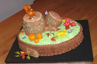 Front of Checketts Thanksgiving cake for website