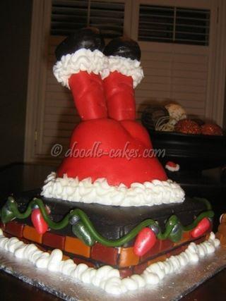 Santa-chimney-cake